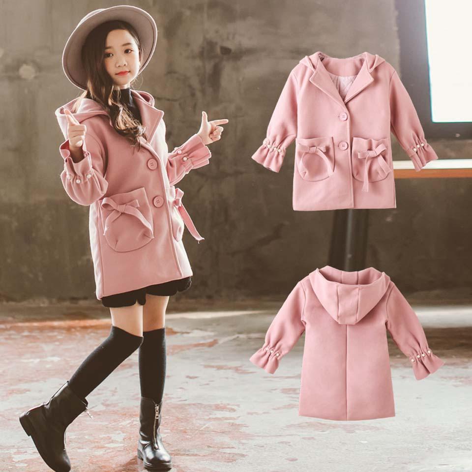 c235fcc97 Winter Jackets Girls Coat Teenage Outwear Woolen Jacket Coat For ...