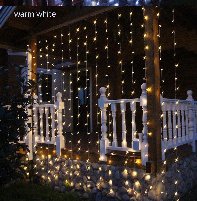 4mx3m 400 Led Fairy Icicle String Light Led Christmas Lights Wedding