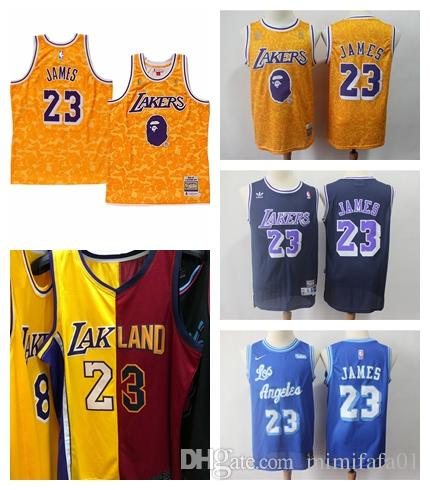 huge selection of 62d01 94df4 Los Angeles new 23 LeBron James Lakerss just don jersey Cleveland red gold  Cavaliers Jersey 2019 2018 two 2 color