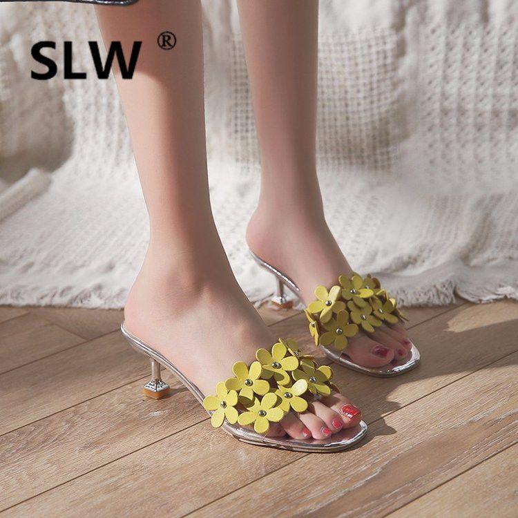 d383d262758 Flower Women Strange Style Summer Slides High Floral Med Fashion Platform  Slipper Woman Super Modis Heels Sandals Slides Lady Wedge Boots Boots Sale  From ...