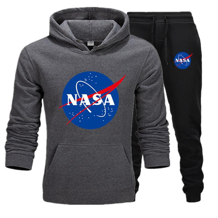 Fashion Designer NASA Tracksuit Spring Autumn Casual Unisex Brand Sportswear Mens Track Suits High Quality Hoodies Mens Clothing H13