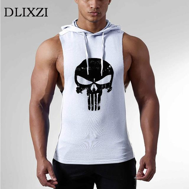 660e38322da403 2019 Dlixzi Men Sleeveless Hoodie Punisher Tank Top Street Workout  Sweatshirts Fitness Wear Hooded Vest Man Gyms Bodybuilding Clothes From  Geiwode