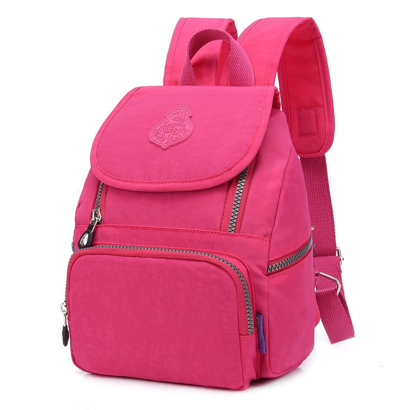 Women Preppy School Bags For Teenagers Female Nylon Travel Shoulder Bags  Girls Bowknot Backpack Mochila Casual Floral Dailybacks Travel Backpack  Cute ... ffe7b9a5d79d9