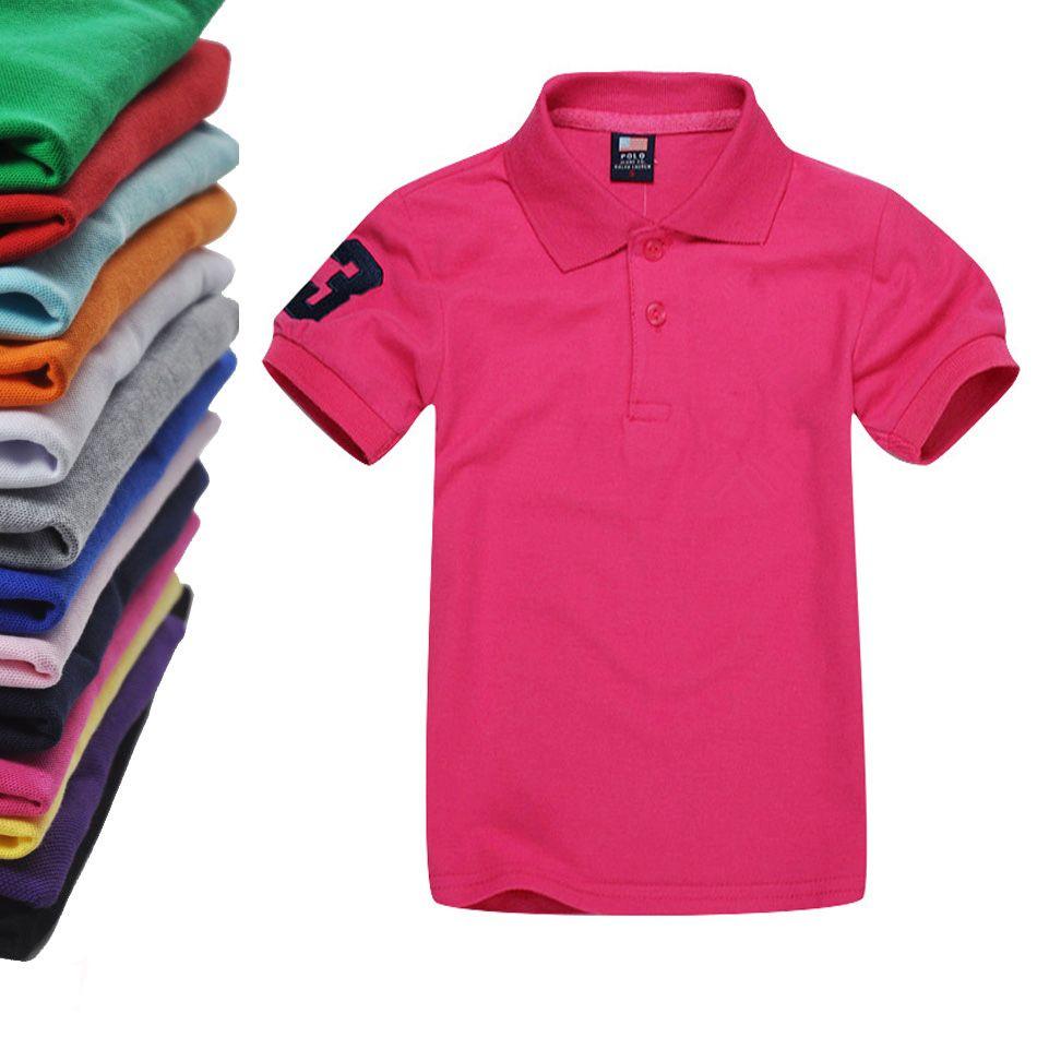 a060fdaa249d 2 4years Kids Polo T Shirt Children Lapel Short Sleeves T Shirt Boys Tops  Clothing Brands Girls Cotton T Shirts From Dlujay, $6.75   DHgate.Com