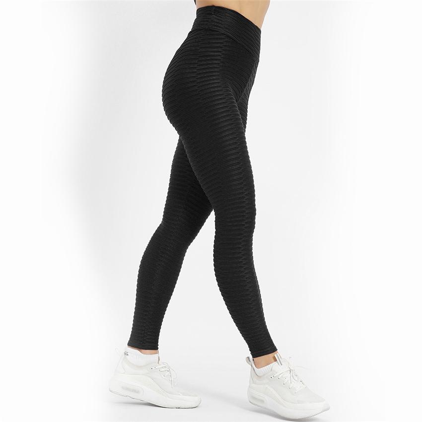 Fashion Casual Leggings Brand Women Leggings Solid Color Bubble Textured High Waist Gyms Fitness Leggings Sexy Yoga Pants