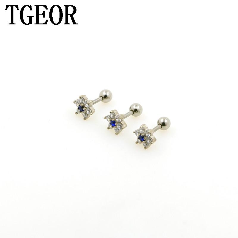 75ad7bea0 2019 New Hot Charm Wholesale Titanium Plated Colors Flower Gem CZ Cubic  Zircon Tragus Piercing Earring From Jerry163, $33.57   DHgate.Com