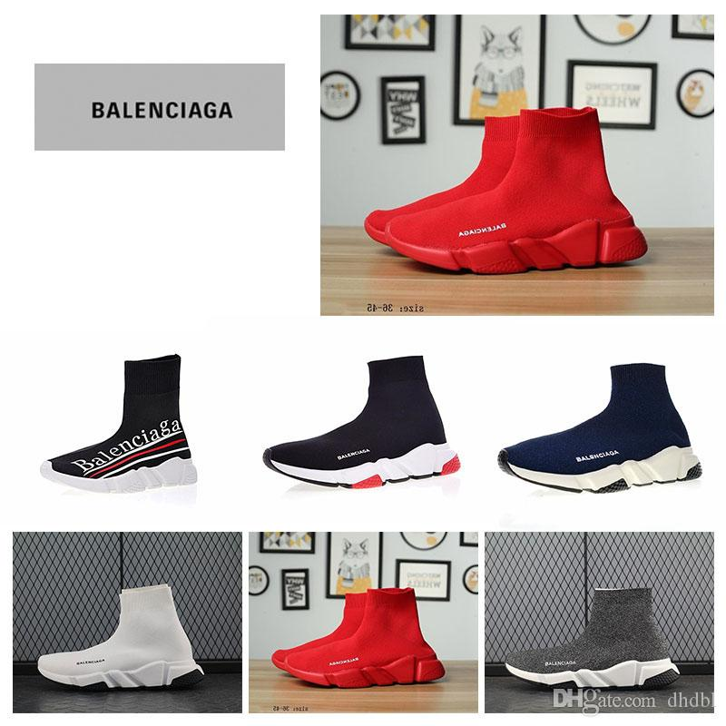 ccfa903efd3b High Quality Balenciaga Shoes Socks Boots Women New Slip On Elastic ...