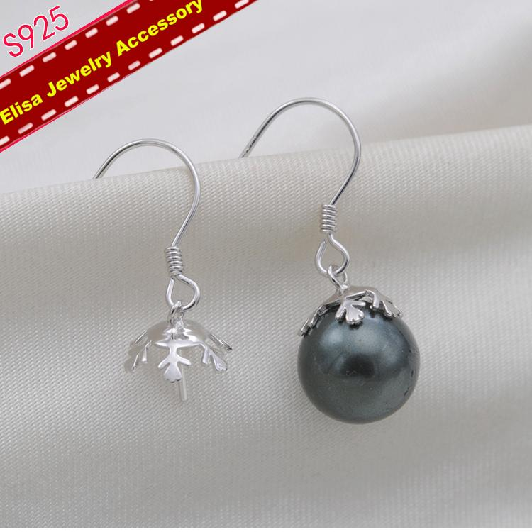 41045402d 2019 S925 Sterling Silver Flora Pearl Earrings Components Women DIY  Handmade Pearl Earrings Settings Silver Color From Wedding163, $36.07 |  DHgate.Com