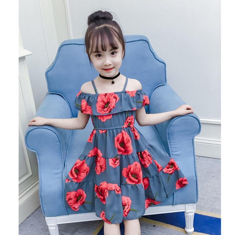 cb4ba2067 Vestido casual para niñas Ropa de verano para niña Vestido nuevo de playa  Vestido de fiesta Vestidos para niñas 2019 Vestidos para niñas