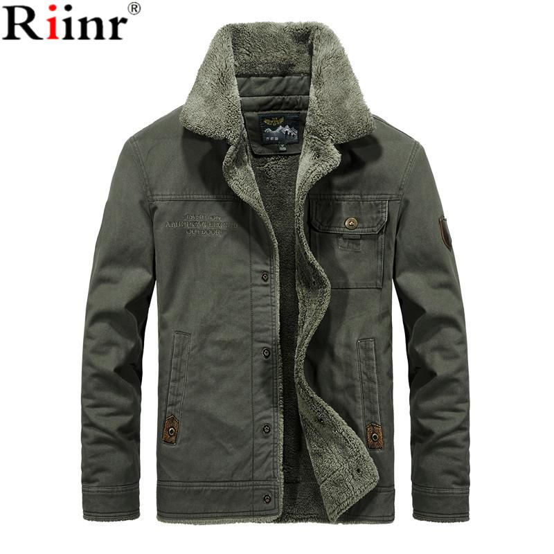 5d6f0f1e6db Riinr New Hot Winter Bomber Jacket Men Air Force Pilot MA1 Jacket Warm Male  Fur Collar Army Jacket Tactical Mens Size 6XL Men Jacket Types Fluffy  Leather ...