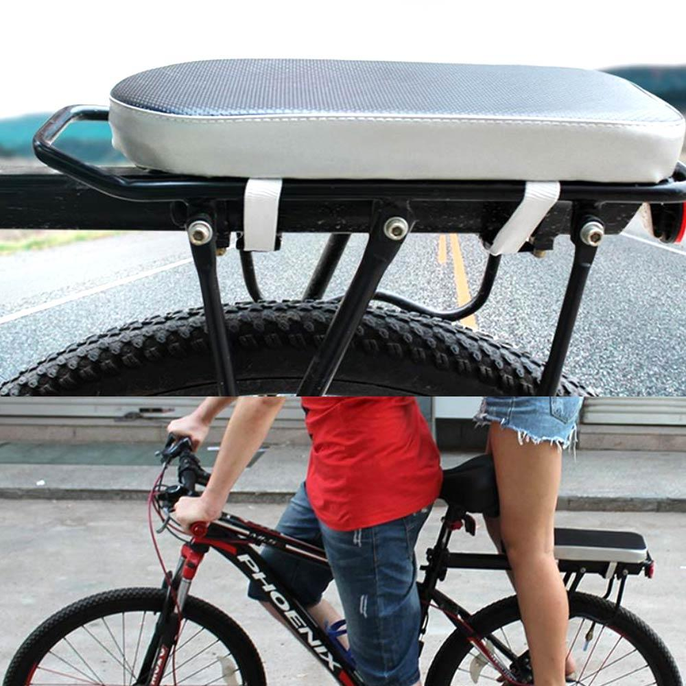 Comfortable Saddle Bicycle Manned Cushion Mountain Bike Back Shelf Seat Easy Install Comfortable New