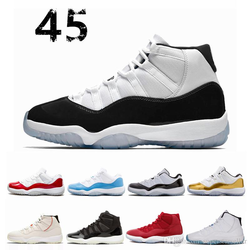 77cbf46ce48d Concord High 45 11 Cap And Gown 11s PRM Heiress Gym Red Chicago Platinum  Tint Space Jams Mens Basketball Shoes Sports Designer Sneakers Cool  Basketball ...