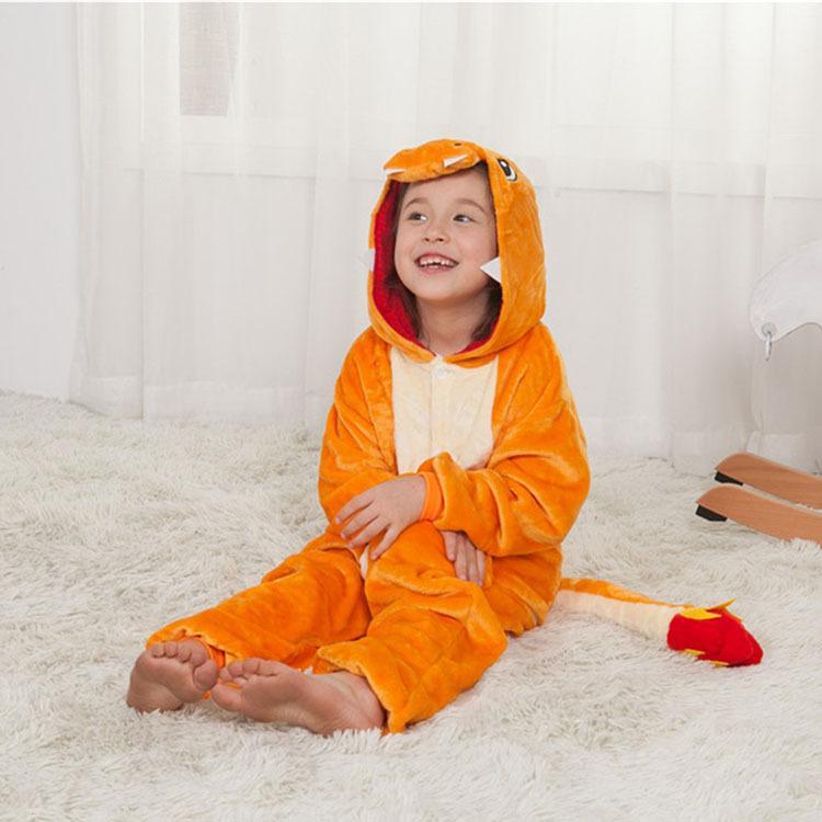 a basso costo 498d4 0b5d4 Pigiama per bambini Kigurumi Animali Ragazze Charizard Drago Onesies  Ragazzi Tuta intera Costume da notte Cosplay Costume di Halloween