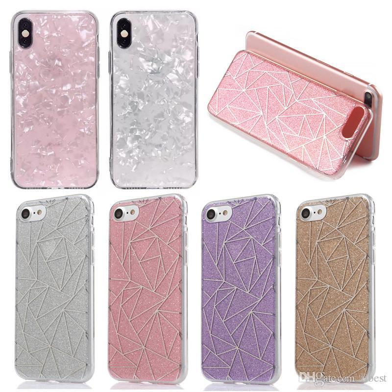 online retailer 18c96 8bb4b Phone Case For iPhone X XR XS Max 6 7 8 Plus Designer Cases Bling Glitter  Sparkle Cute Protective Cover