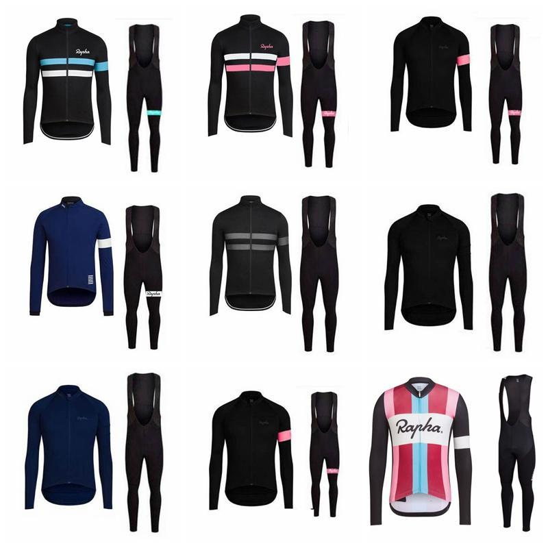2019 RAPHA Cycling Jersey set Long Sleeve Racing Bike maillot Pro Cycling Clothing Mtb bicycle Clothes Wear Ropa Ciclismo Sportswear K010826