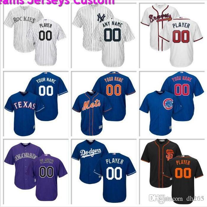 Personalizzato Mens Baseball Jersey Philadelphia Phillies Seattle Mariners Texas Rangers Los Angeles Angels Astros ufficiali maglie di base fresco 4XL