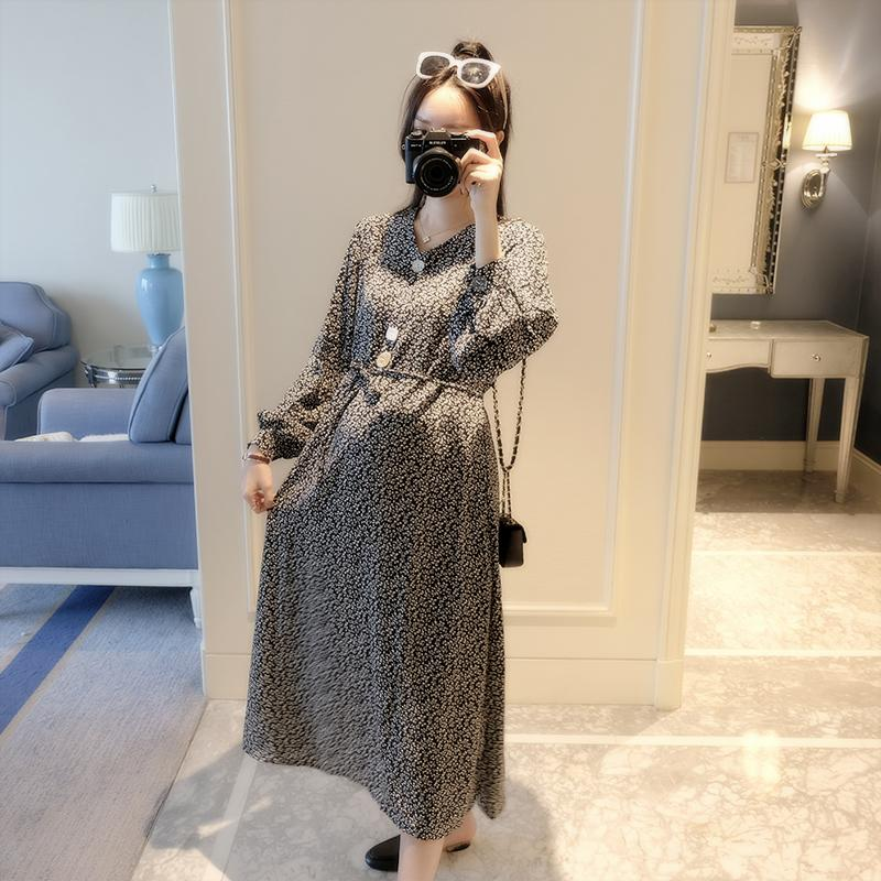6690d690f60e7 2019 9312# Vintage Printed Cotton Maternity Maxi Long Dress 2019 Spring  Fashion Clothes For Pregnant Women Pregnancy Party Vestidos From Cornemiu,  ...