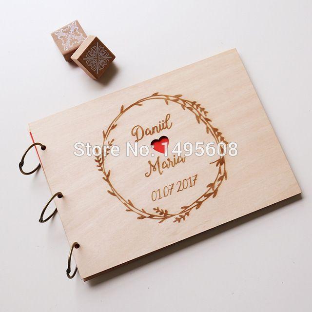 ae0a05e45131d 25 Sheets A5 A4 Square Personalized Album ,wedding Guest Book, Wooden Photo  Album,rustic Alternative Diy Scrapbook,guests Q190531