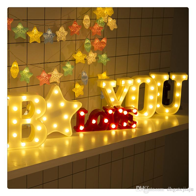 LED Marquee Letter Character Lights A - Z Alphabet Light Up Sign Decor  Freeshipping Wholesale Romantic Decoration
