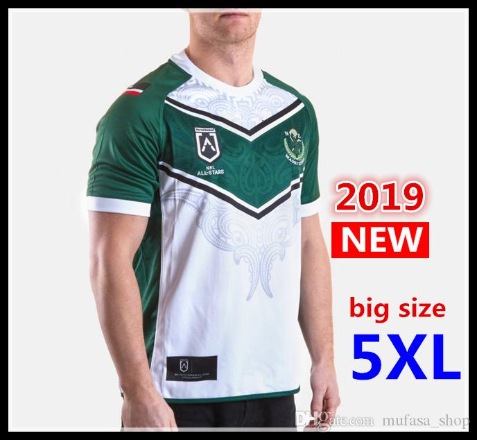 ae85dc61c Hot Sales Best Quality 2019 New Zealand Maori All Stars Rugby Jerseys NRL  National League Rugby Shirt Nrl Jersey Big Size S-5xl Shirt Jersey Rugby  Jerseys ...