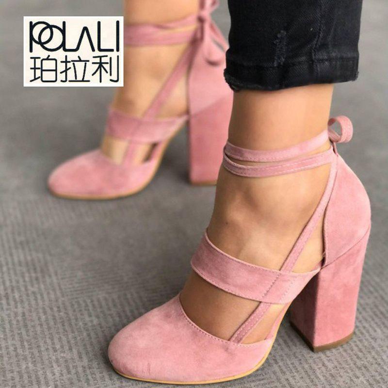 796334d3 Compre 2019 Vestido POLALI Precio De Fábrica Sexy Gladiador Tacones Altos 8  CM Mujer Bombas Zapatos De Vestir De Boda Mujer Valentine Stiletto Zapatos  De ...