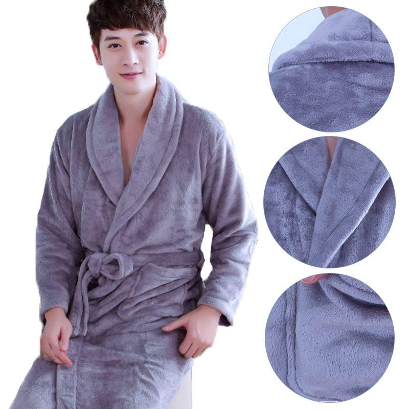 1de61af908 2019 Unisex Bathrobe Fashion Men Women Soft Plush Pajama Lovers Coral Velvet  Flannel Long Sleeve Sleepwear Fleece Winter Loungewear From Pleated