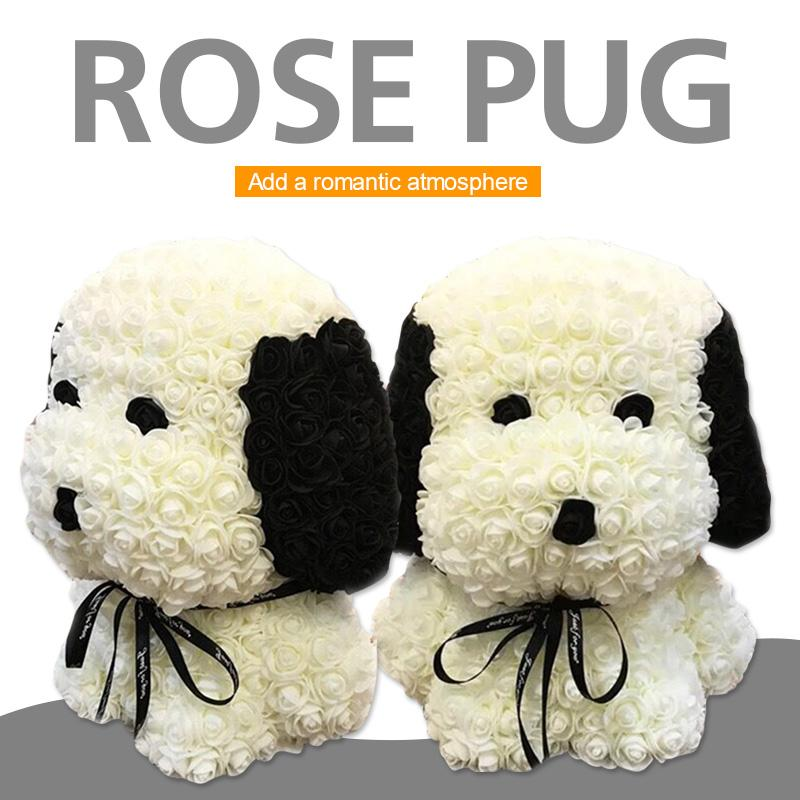 Nice Dog Dolls Artificial Rose Pe Lovely Rose Dog Toy Love Girlfriend Romantic Decorations Gift Wedding Simulated Festive & Party Supplies Event & Party