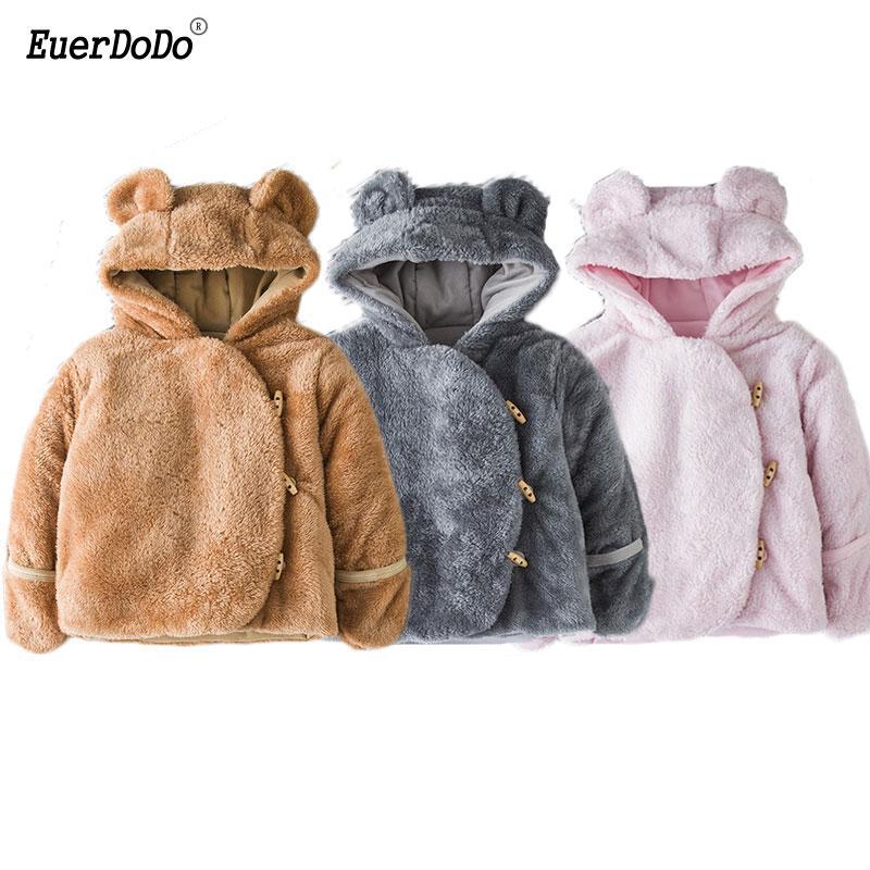 fdb7f1361 Winter Warm Children Coats Baby Winter Suit Plush Toddler Snowsuit ...