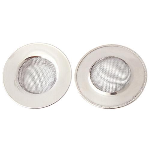 100 adet 7 cm Paslanmaz Çelik Hasır Lavabo Süzgeç Tuzak Banyo Saç Drenaj Delik Metal Flume Filtre Küvet Lavabo çeşitli Eşyalar Filtre