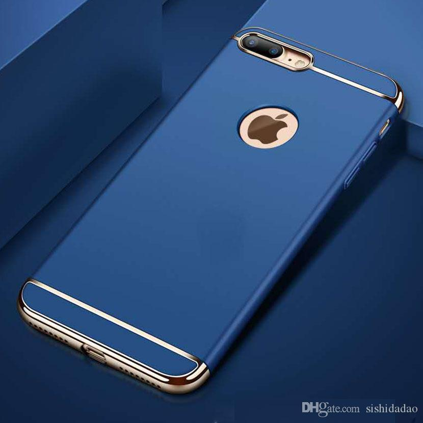 luxury 3 in 1 rear cover for iphone x 6 6s 7 8 plus case fashion