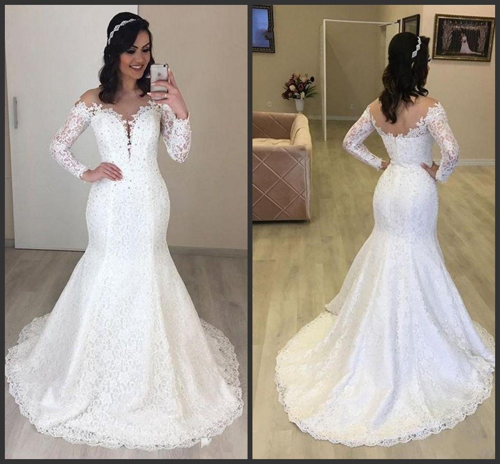 Vestidos de novia 2019 color perla