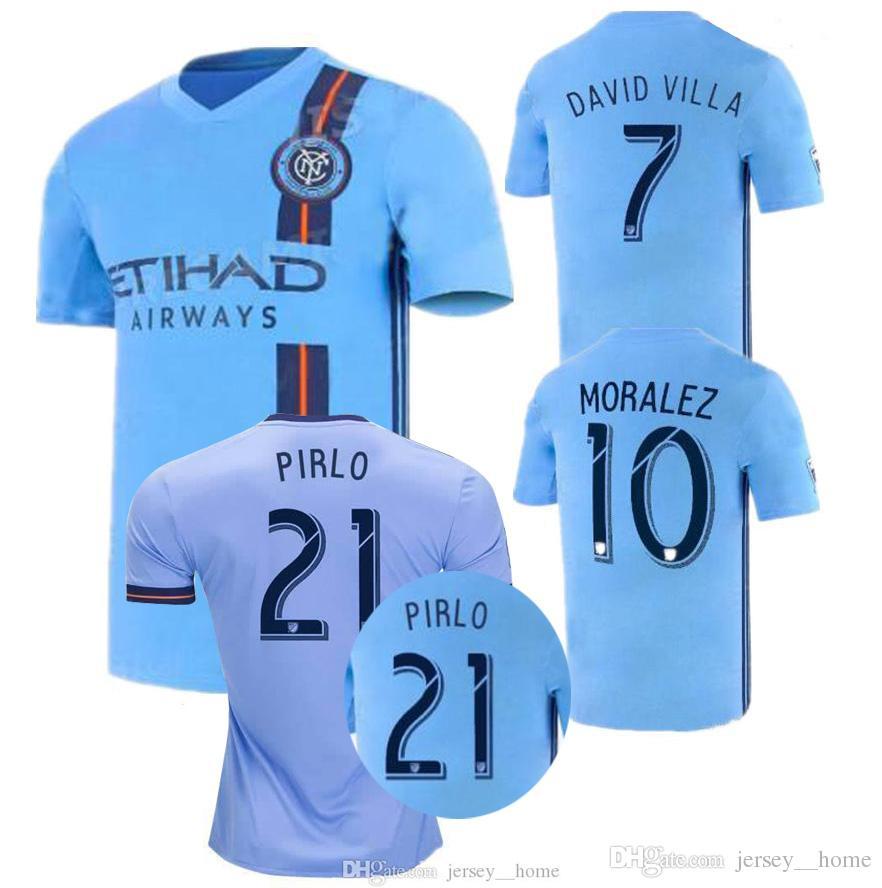 c09fcc66d14e8 ... De Camiseta De Fútbol De La Ciudad De Nueva York 18 19 20 NYC Inicio  Pirlo Camiseta De Futbol David Villa Maglie Por Jersey  home