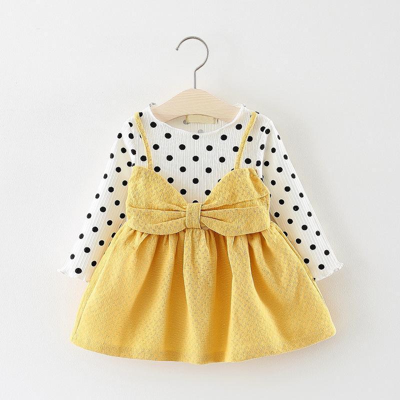 a75e219f042f8 Acheter Qualité Plus Récent Bébé Filles Automne Robe Enfants Coton  Princesse Mode Robe Pour Filles Belles Vêtements Robes Enfants Robe De  Printemps De ...