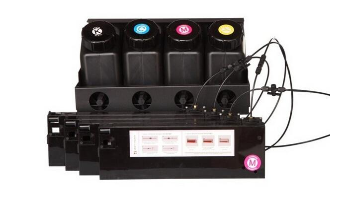 UV bulk ink system for Roland/Mimaki/Mutoh large format printers 4 ink  bottle 4 UV cartridge CISS