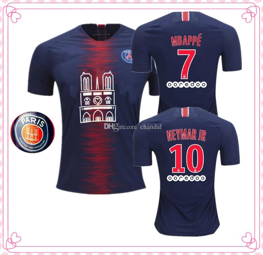 brand new fb5c9 d4122 New 2019 PSG Notre-Dame mens Soccer Jersey paris saint germain MBAPPE  football Shirt camiseta 18/19 Notre Dame de Paris maillot de foot