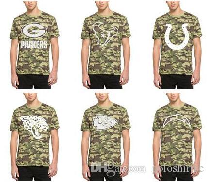 511535dc6 2018 Men Houston Texans Green Bay Packers T Shirt Indianapolis Colts  Jaguars Kansas City Chiefs Los Angeles Chargers 47 Camo Alpha T Shirt From  Poloshirtee
