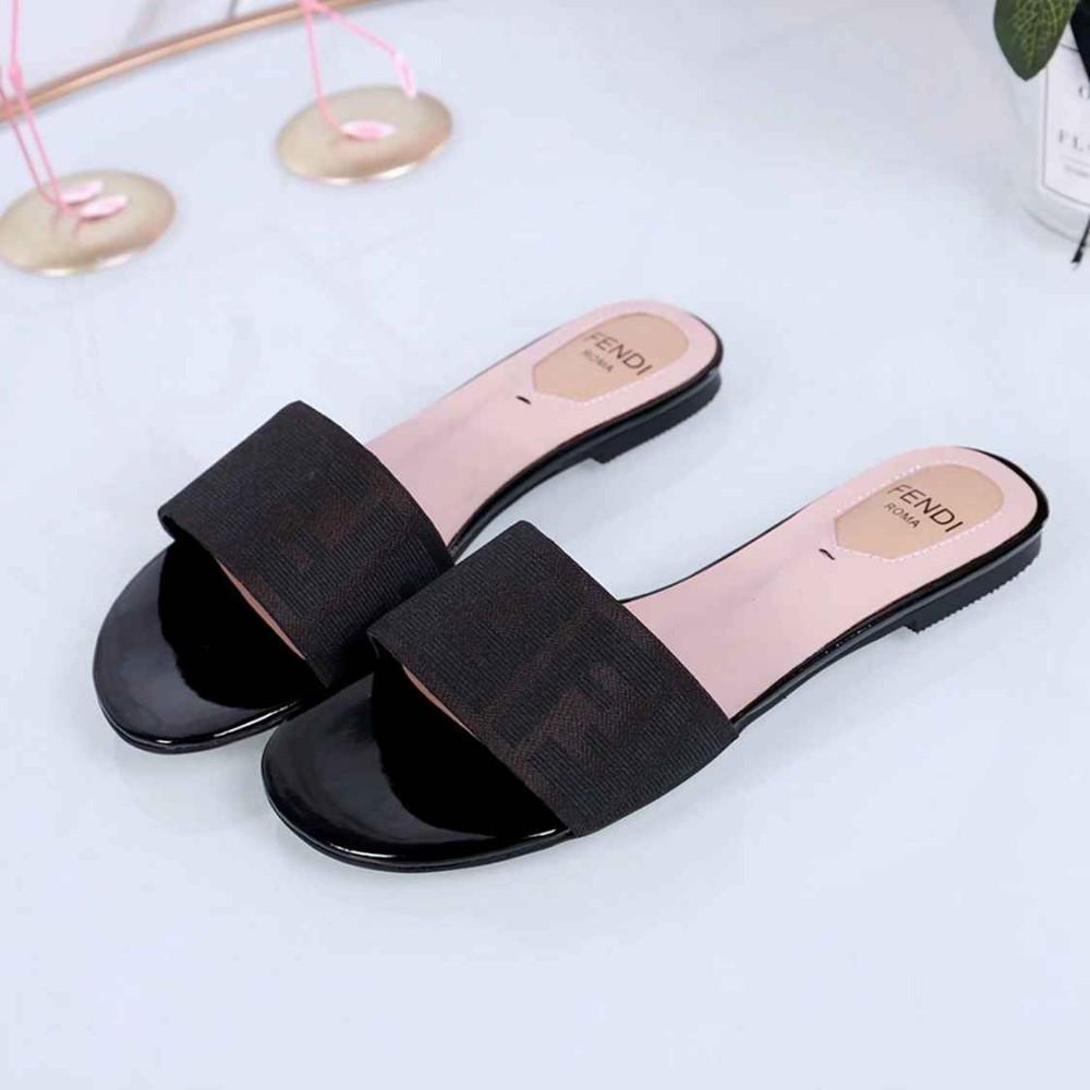 c1f01e3942c 2019 Newest Fashion Women's Sandals Elegant Flat Bottom And Comfortable  Genuine Leather Sandals