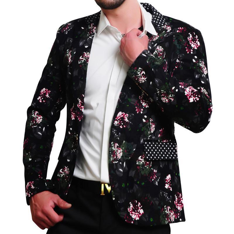 1af912d06e712 2019 MOGU Mens Floral Blazer 100% Cotton Flower Print Blazers For Men Large  Size Slim Fit Blazer Men Costume Homme Men Blazer From Daiming