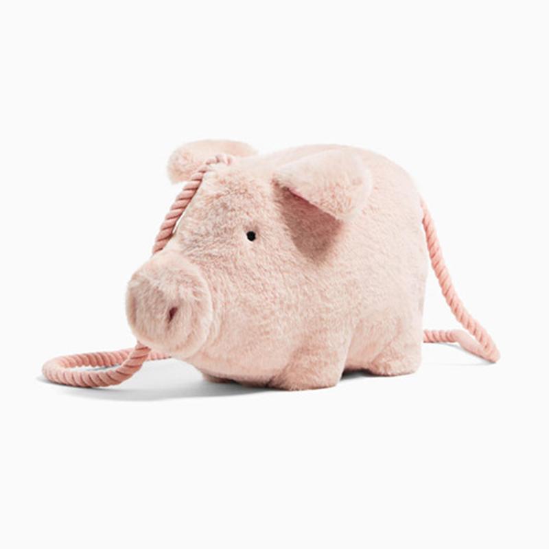 3fc31def44bb Mini Pig Modeling Handbag Fashion Women Pink Flannel Cartoon Animals Ladies  Pocket Purse Children Lightweight Messenger Bag Leather Handbags Hand Bags  From ...