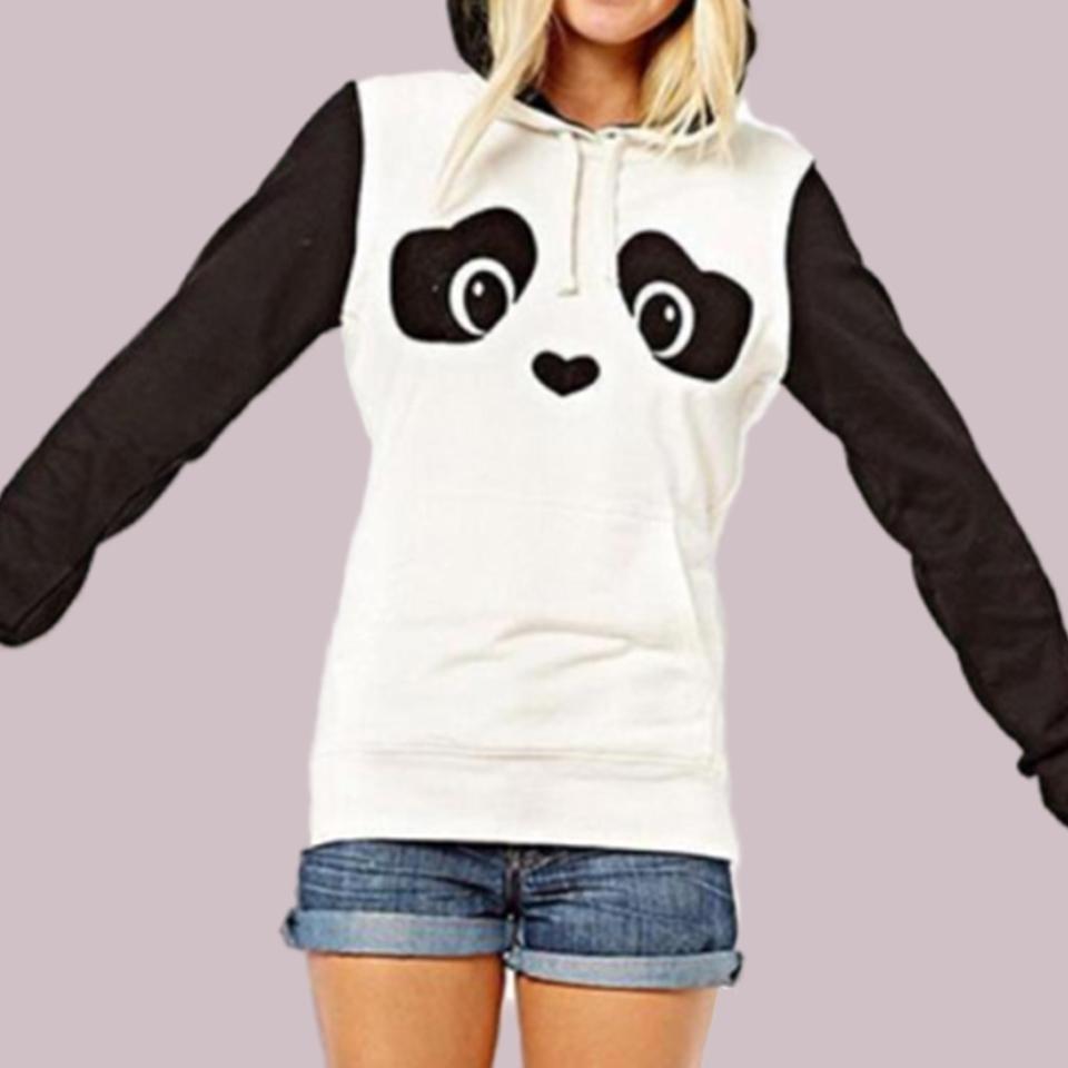 2f963821507 2019 Bear Ear Plush Furry Hoodie Poleron Mujer 2019 Cute Panda Clothing  Kawaii Harajuku Oversized Stitching Long Sleeve Hoodies Women From Erzhang