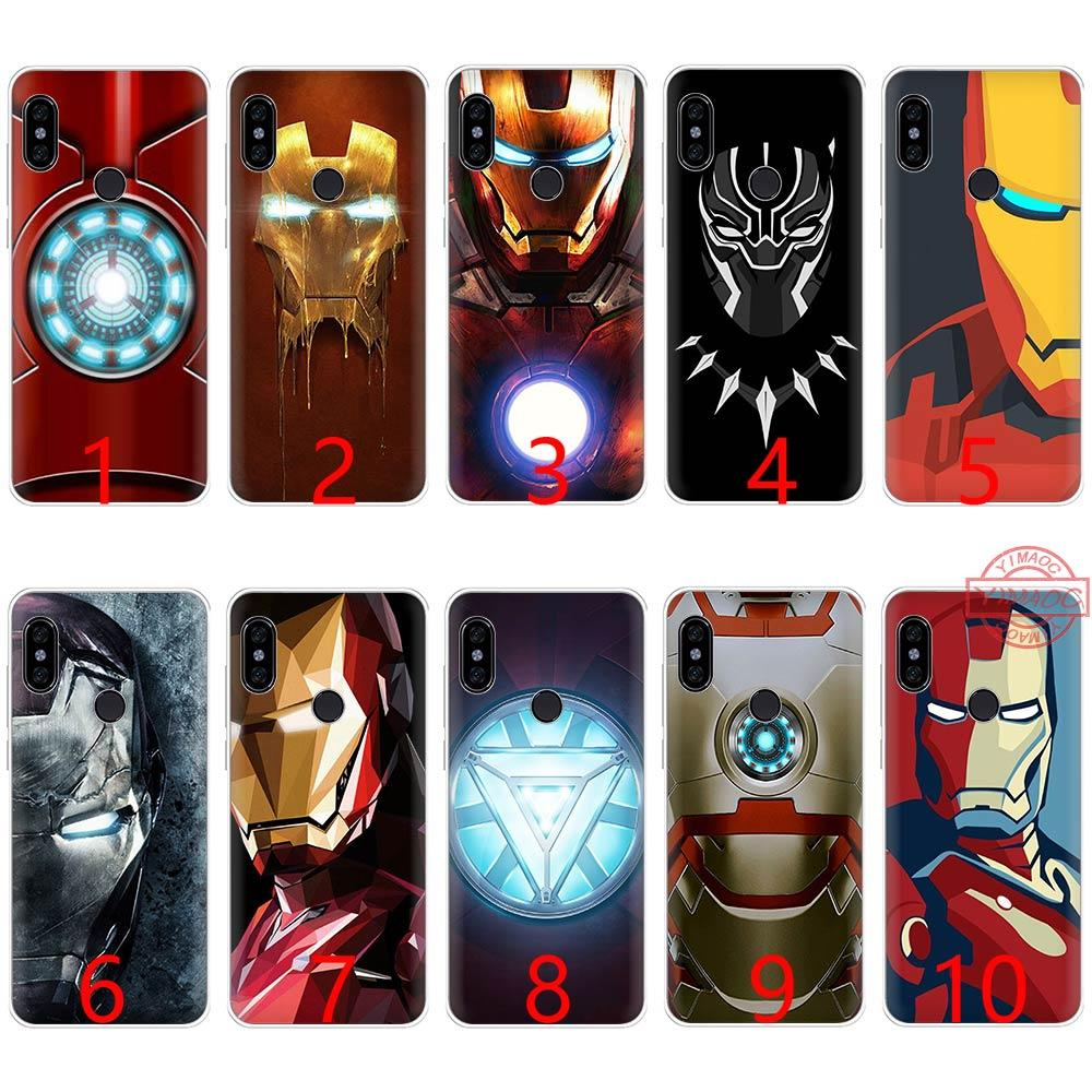 size 40 7a4fc f679f Marvel Avengers Heroes Soft Silicone TPU Phone Case for Redmi Note 4 4X 5 6  Pro 6A S2 Cover