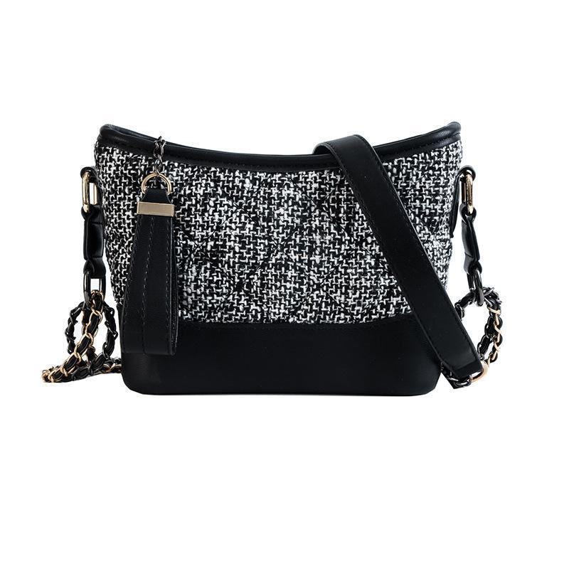 2019 Fashion 2018 Luxury Handbags Women Bags Designer Sling Bag For Women  Plaid Leather Hobo Shoulder Messenger Bag Women Pochette Sac Femme Designer  Purses ... a307e2219118d