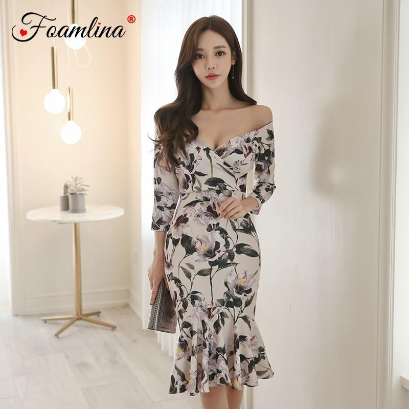 Sexy Floral Print Dresses