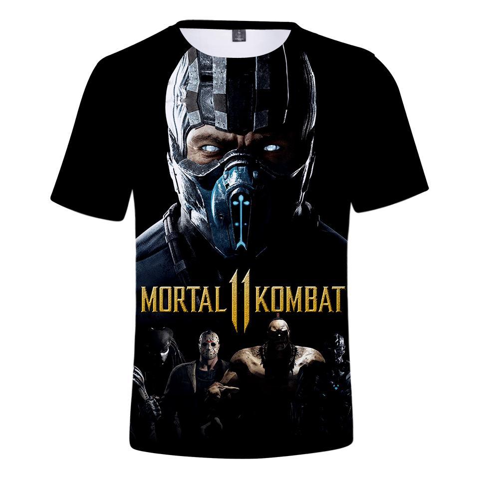 9bdca0bf716e Mortal Kombat 11 3D camiseta Hombre / mujer Moda Verano Hot Harajuku Manga  corta 3D Mortal Kombat 11 camiseta de hombre Más el tamaño 4XL