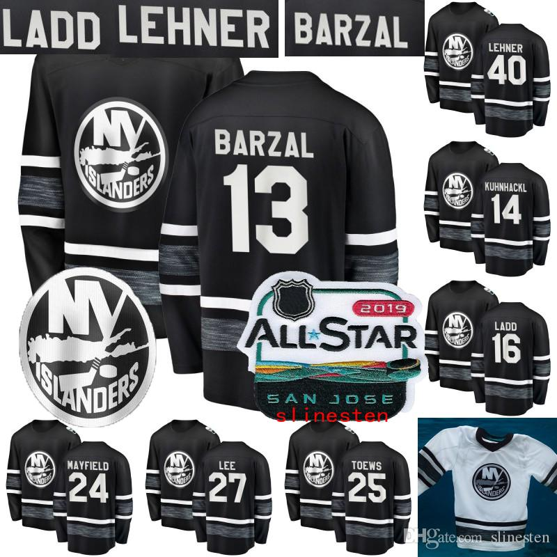 a05833b44 2019 New York Islanders 2019 All Star Game Jersey Mens 12 Josh Bailey 13 Mathew  Barzal 27 Anders Lee 15 Cal Clutterbuck Hockey Jerseys From Slinesten