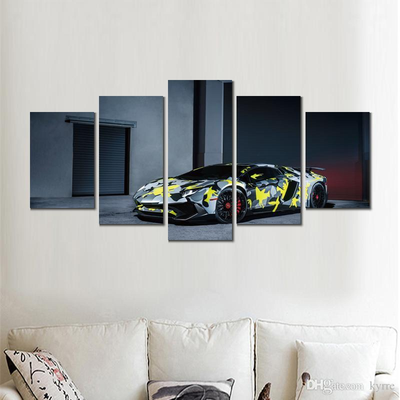 lamborghini aventador lp sv canvas print arts pictures for dining room decor