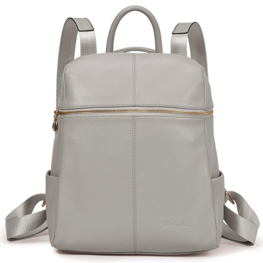 8e312b67163 BOSTANTEN Women Backpacks Genuine Leather Backpack Female School Bag Pretty  Style Backpack Girls School Bags on Shoulder