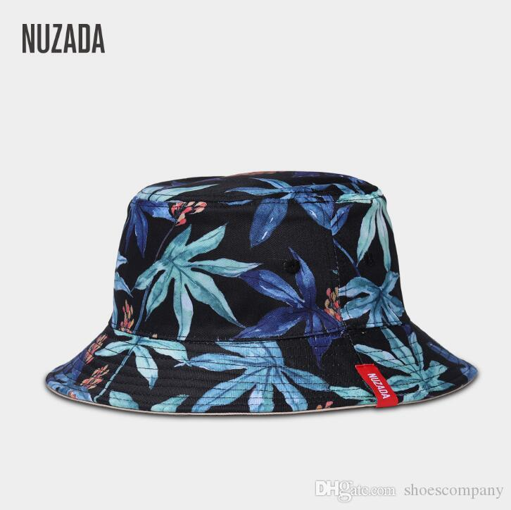 2019 New Fashion Bucket For Men Women Summer Sun Hat Mens Womens Headwear  Cotton Leaves Good Quality Wholesale 55 58 Cm Many Styles Make Your Own Hat  ... e252186ca0