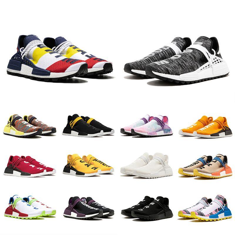 e7a39d03e Top Quality Human Race Trail Running Shoes Solar Pack Men Women Pharrell  Williams HU Blank Canvas Equality Nerd Sports Runner Sneakers Mens Sale  Cheap ...