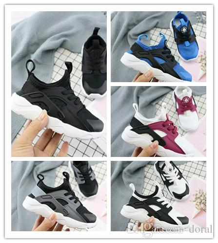 dfb72d380b NEW Cute Kids Air Huarache Sneakers Shoes For Boys Girl Authentic All White Children'S  Trainers Huaraches Sport Running Shoes Size 22 35 Tennis Shoes ...